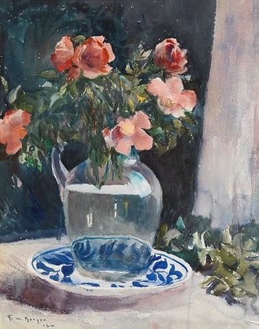still life with flowers by frank weston benson