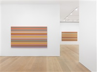 bridget riley: the stripe paintings 1961-2014 exhibition view by bridget riley