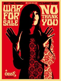 war for sale red by shepard fairey
