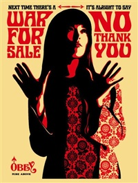 war for sale cream by shepard fairey