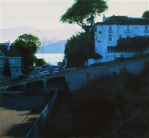early morning, the bay bridge from russian hill by ben aronson