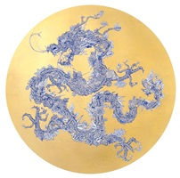 floral dragon gold leaf (shanghai tang series) by jacky tsai