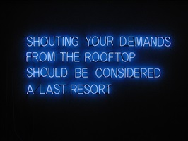 shouting your demands by tim etchells