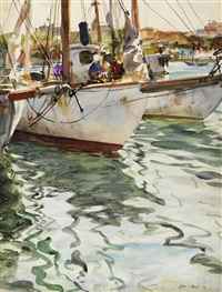 fishing boats i by john whorf