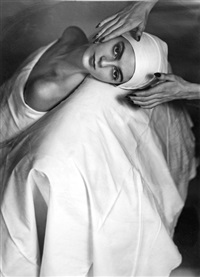 carmen face massage 1949 by horst p. horst