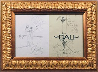 triple drawing by salvador dalí