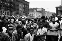 time of change (black crowd at rally in harlem) by bruce davidson