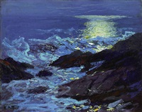 sea and cliffs by edward henry potthast