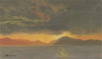sunset by albert bierstadt