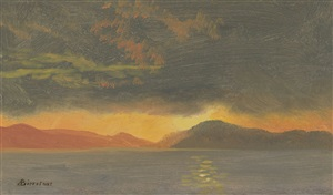 sunset by albert bierstadt