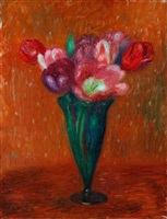 mixed tulips by william glackens