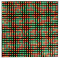 chartres vert-orange '9x5 konkret' by françois morellet