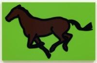 galloping horse iii by julian opie