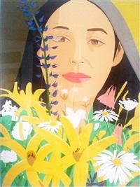 ada with flowers by alex katz