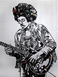 jimi hendrix by mr. brainwash