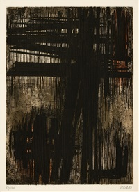 eau forte vii by pierre soulages