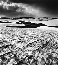 early snow, soya kyuryo, hokkaido, japan, 2004 by michael kenna