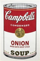 campbell's soup i, onion by andy warhol