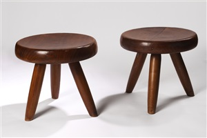 paire de tabourets by charlotte perriand