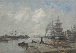 boulogne-sur-mer, le port by eugène boudin