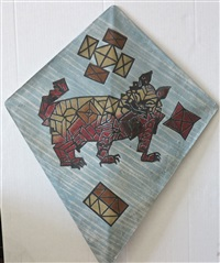 abstract geometric dog kite by francisco toledo