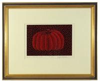 pumpkin (red) by yayoi kusama