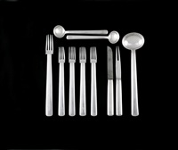 10-part cutlery 'rundes modell' by josef hoffmann