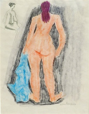 untitled nude by milton avery