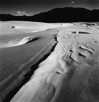 snow drift, lake nukabira, hokkaido, japan, 2004 by michael kenna