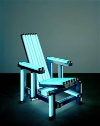 blue electric chair by iván navarro