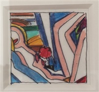 drawing for sunset nude (farbig) by tom wesselmann