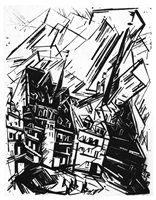 hohe gebäude (high buildings) by lyonel feininger