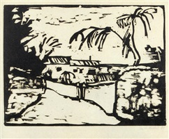 weg bei rom (path by rome) by erich heckel