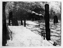 landungsbrücke (landing dock) by emil nolde