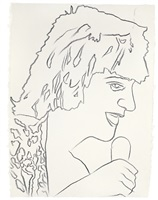 rod stewart by andy warhol