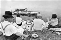 picnic on the banks of the marne, france, 1938 by henri cartier-bresson