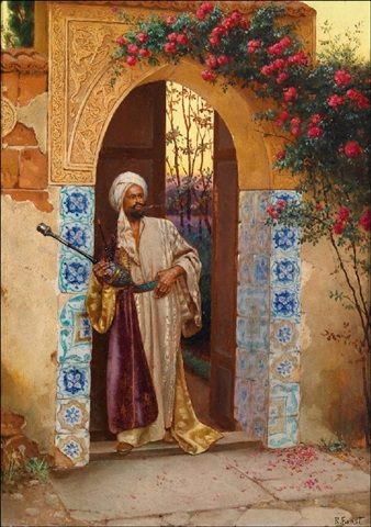 outside the palace garden by rudolf ernst