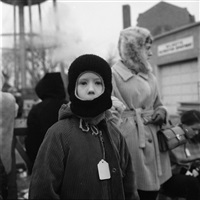 chicago, north suburbs (boy in winter hat), 1969 by vivian maier