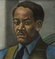 portrait of joseph delaney by beauford delaney