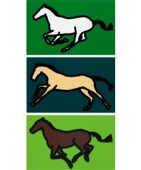 galloping horses by julian opie