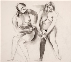 untitled (two seated women) by willard ayer nash
