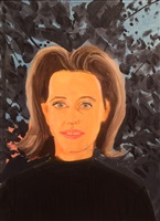 study for black sweater by alex katz