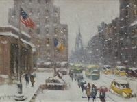 the library, winter by guy carleton wiggins
