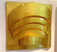 the solomon r. guggenheim (metalflake/goldflake) by richard hamilton