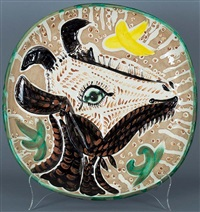 tete de chevre de profil (goat's head in profile) by pablo picasso