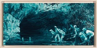 "study for ""myth of depth ii,"" by mark tansey"