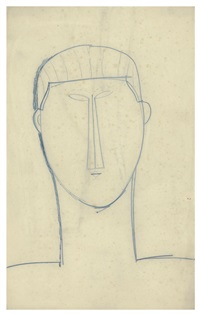 male head and shoulders by amedeo modigliani