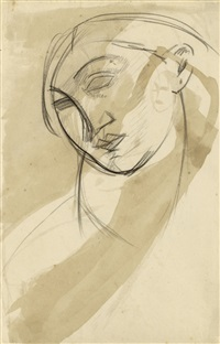 female head (recto) by amedeo modigliani