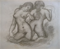 deux femmes nues by aristide maillol
