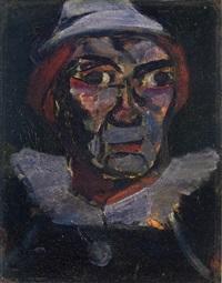 clown de face by georges rouault
